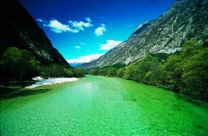 River Soča in it's emerald beauty
