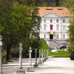 Cekin CASTLE AND Tivoli promenade in Ljubljana