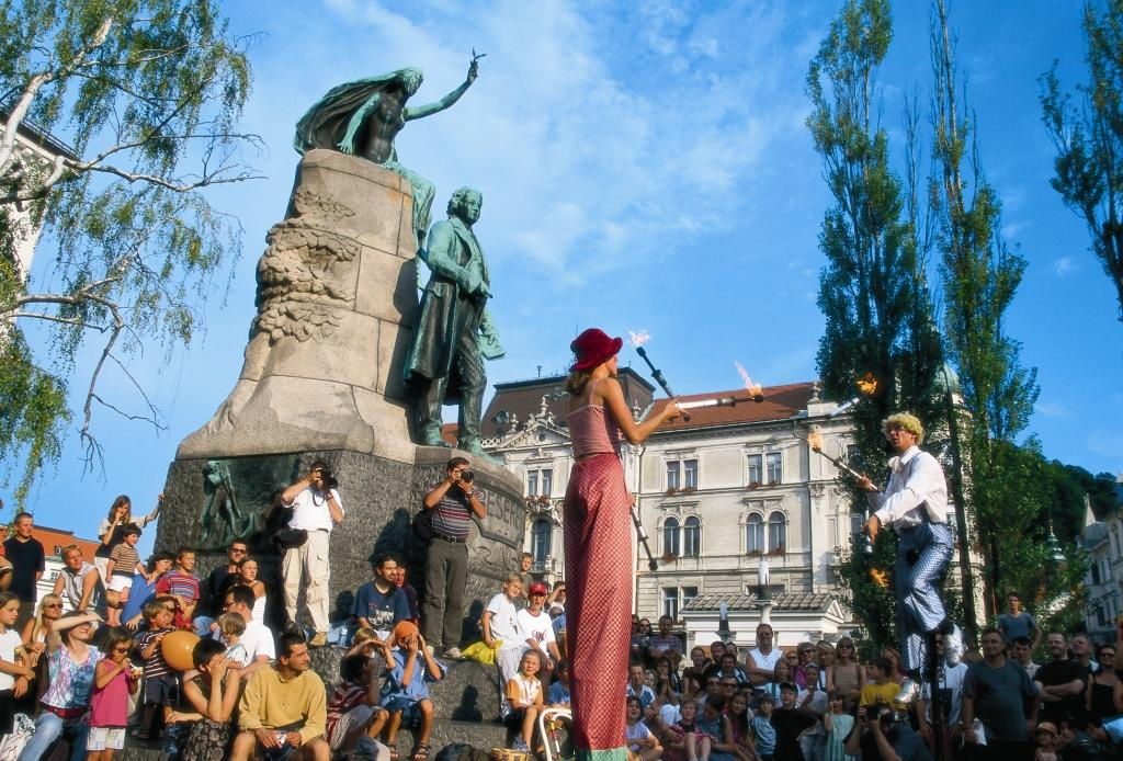 Ljubljana festival of street theatre