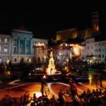 Piran, cultural event on Tartini square