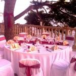 Wedding beach terrace